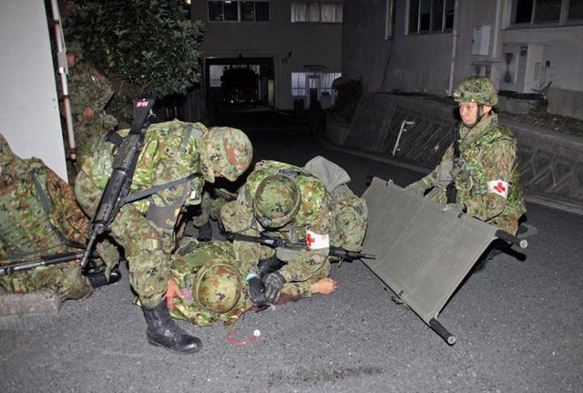 画像6: 通信・衛生・狙撃の訓練検閲|陸自対馬警備隊