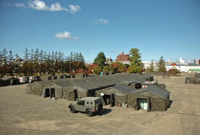 画像3: 105野外病院隊の訓練を検閲|仙台駐屯地