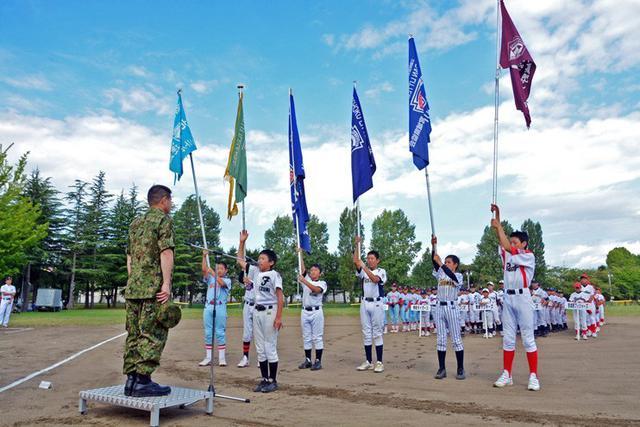 画像: リトルリーグで交流図る|仙台駐屯地