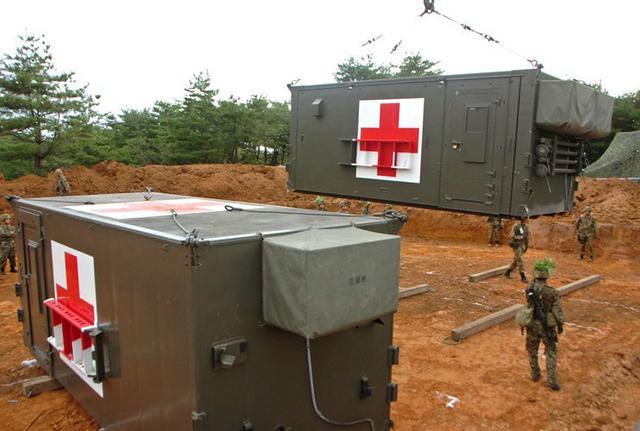 画像1: 野外病院を築城、衛生業務を演練|仙台駐屯地