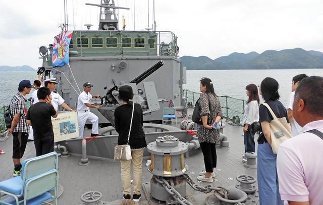 画像5: 掃海艇「あいしま」艦艇広報開催|山口地本
