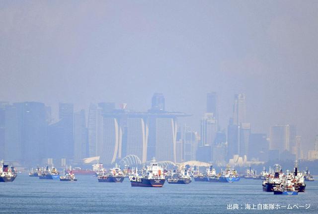 画像7: シンガポールで実動訓練|海自1護衛隊群