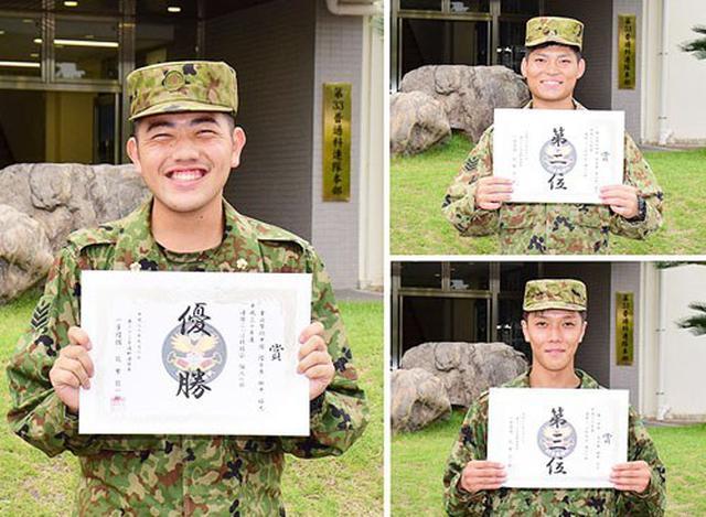 画像: 個人戦を制した田中士長、2位・長谷部士長、3位・田中士長