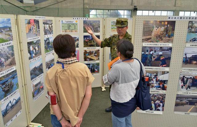 画像: 県総合防災に災派活動の写真展示|青森地本