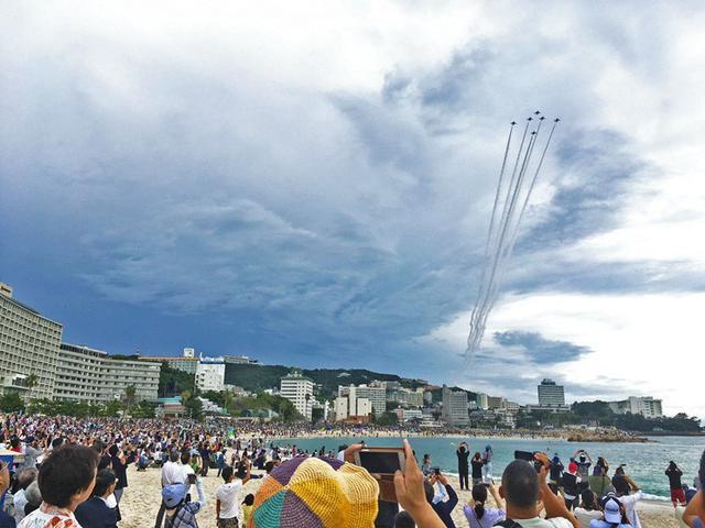 画像: ブルーインパルス 5万人歓声|和歌山地本