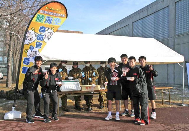 画像4: 高校バスケで自衛隊PR|札幌地本