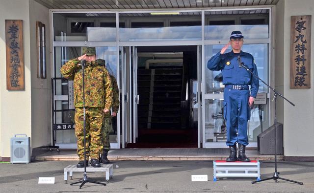 画像1: 県警とテロ対処共同訓練|岩手駐屯地