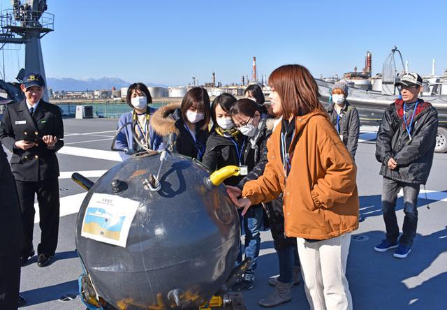 画像10: 海自掃海艇 体験航海・広報に390人|三重地本