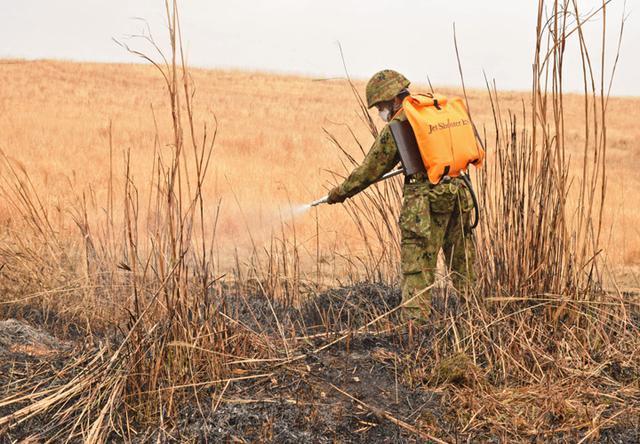 画像7: 霧島演習場 野焼き支援|都城駐屯地