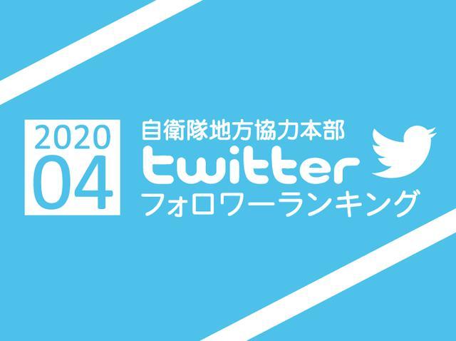 画像: 【地方協力本部】twitterフォロワーランキング 2020年4月
