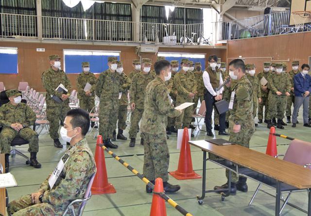 画像3: 部隊長ら70人、新型コロナ対応訓練|金沢駐屯地