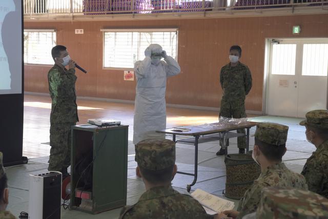 画像1: 部隊長ら70人、新型コロナ対応訓練|金沢駐屯地