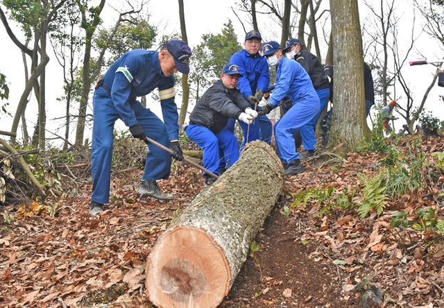 画像2: 登山道整備のボランティアに協力|海自1術校