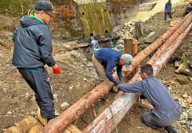 画像2: 修親会が西日本豪雨で損壊した橋を復旧|福知山駐屯地