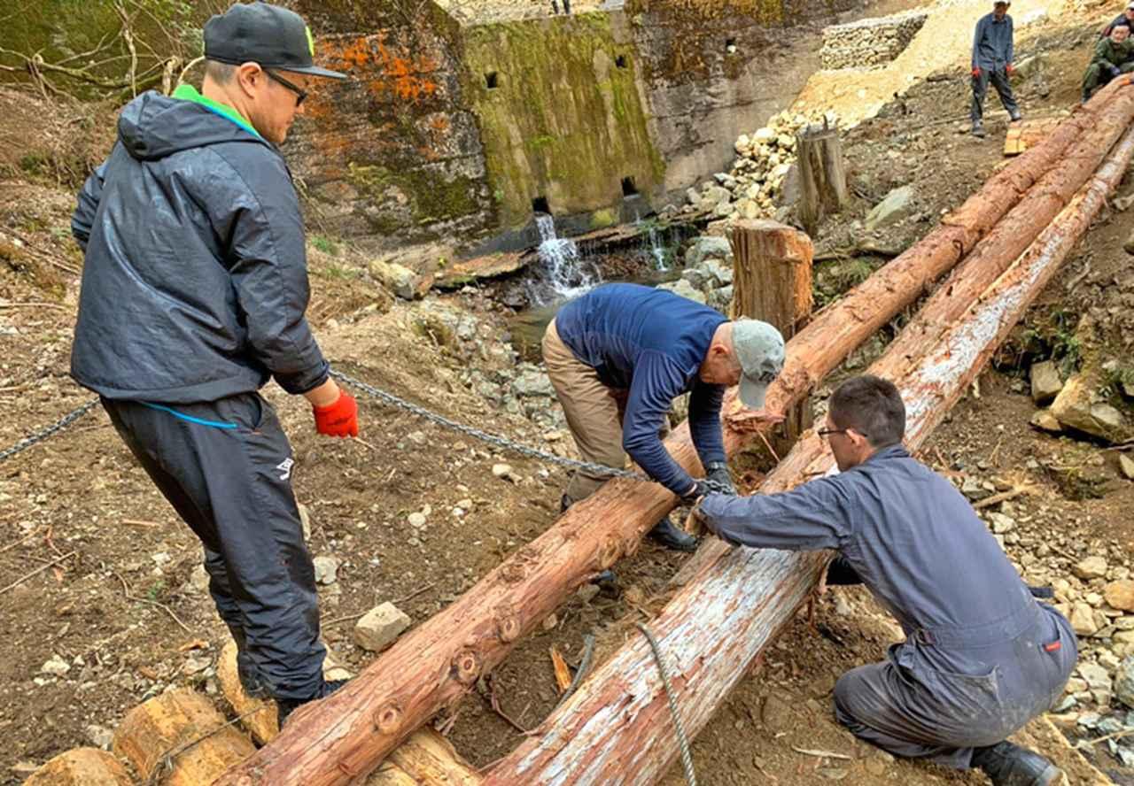 画像2: 修親会が西日本豪雨で損壊した橋を復旧 福知山駐屯地