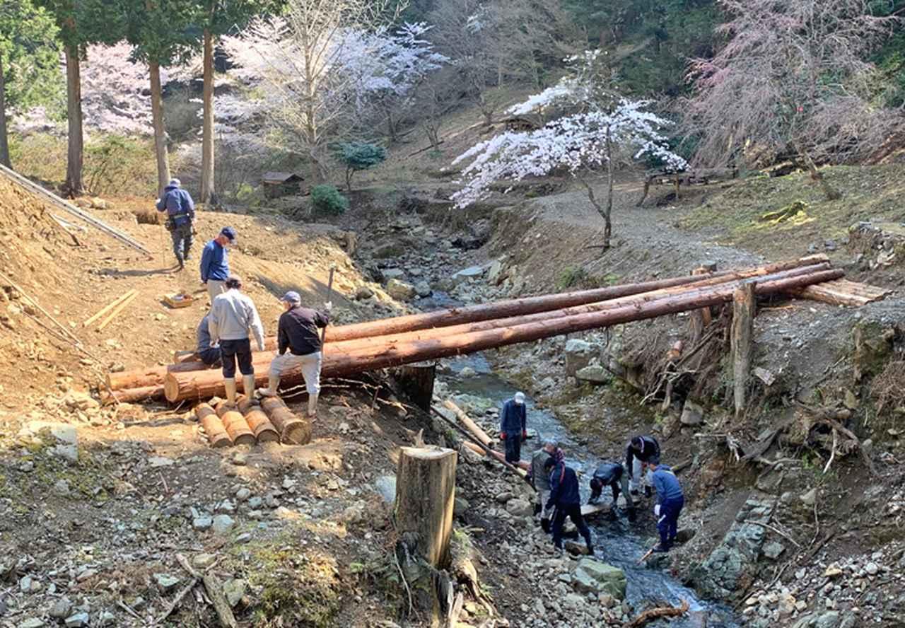 画像3: 修親会が西日本豪雨で損壊した橋を復旧 福知山駐屯地