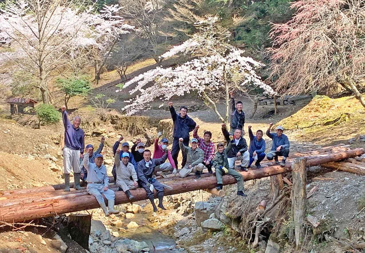 画像4: 修親会が西日本豪雨で損壊した橋を復旧 福知山駐屯地