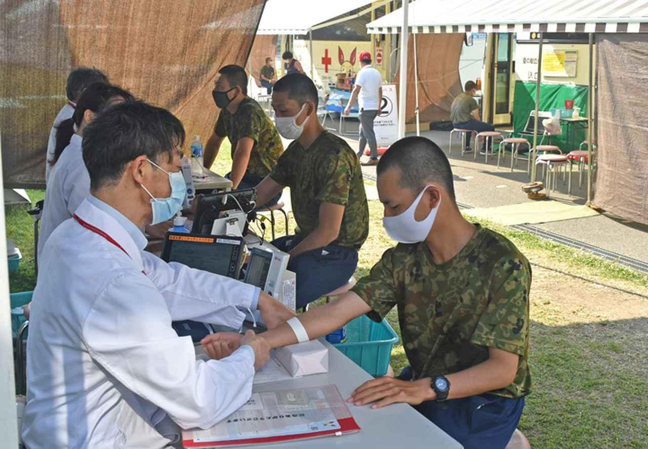 画像3: GW外出制限中に隊員700人が献血|武山駐屯地