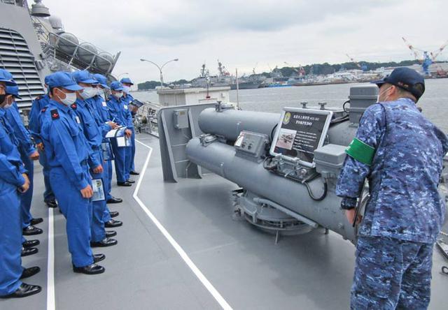 画像5: 曹候生・自候生116人がイージス艦内を見学|海自護衛艦「きりしま」