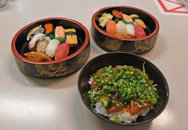 画像: 並・上寿司と一番人気のマグロチャイナ丼