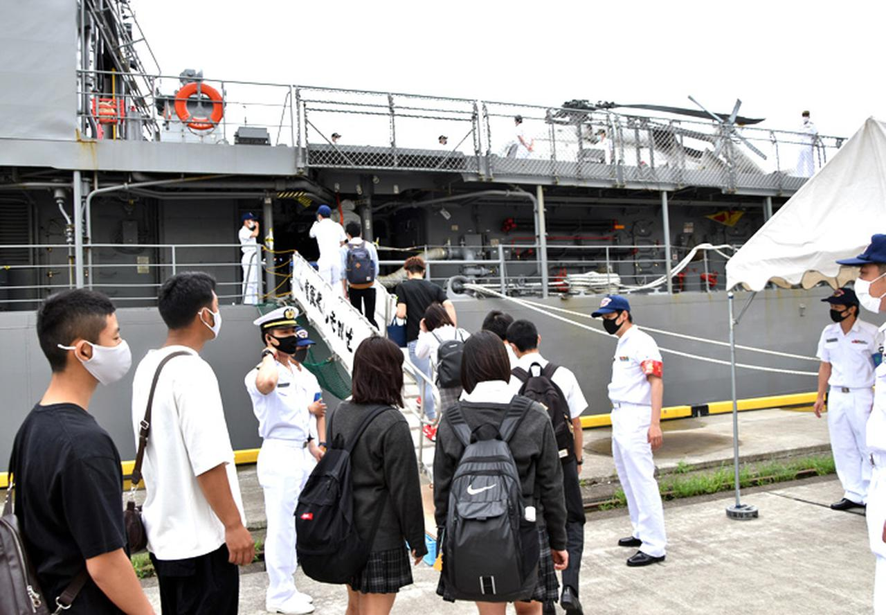 画像1: 22即機連、艦艇広報に装備品展示で協力 多賀城駐屯地