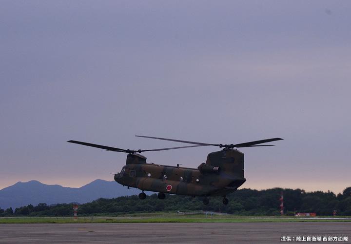 画像1: 2020年9月4日 15:50  CH-47J離陸  高遊原分屯地