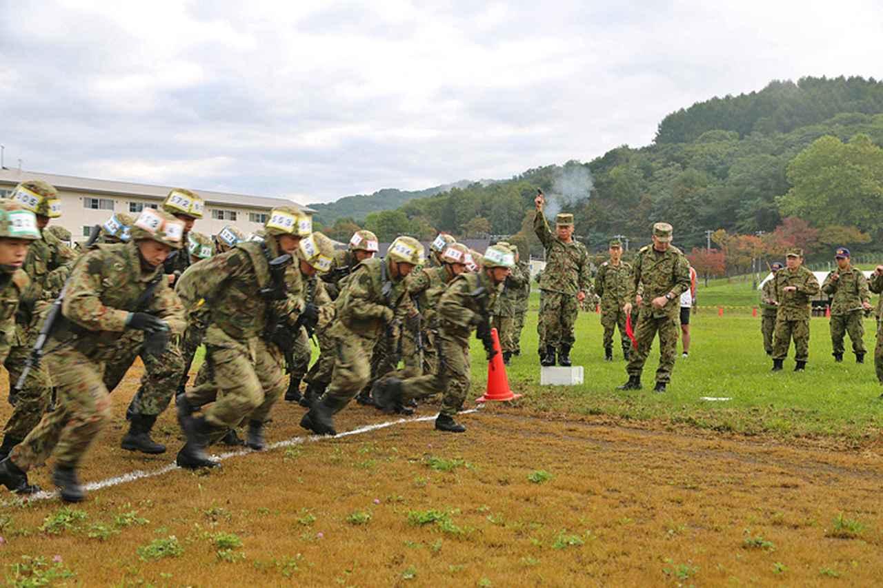 画像3: 武装走競技会 本部管理中隊が悲願の優勝 美唄駐屯地