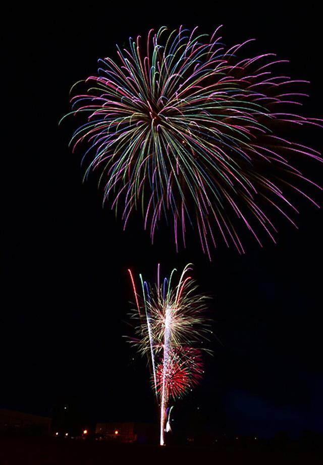 画像7: 打ち上げ場所を提供「土崎夢花火」を支援|秋田駐屯地