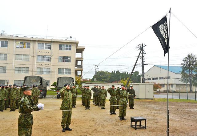 画像: レンジャー旗の掲揚、レンジャー隊歌の斉唱