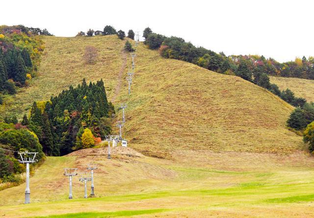 画像: 作業終了後のスキー場