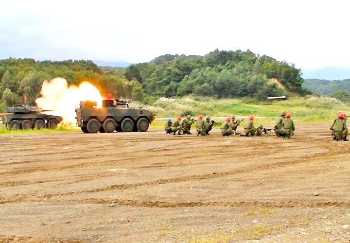 画像2: 22即機連野営訓練 機動と火力の連携を演練 多賀城駐屯地