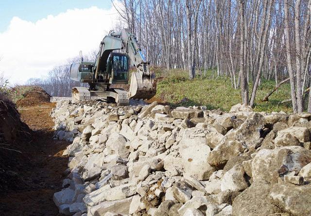 画像: 嵐山装軌車道新設
