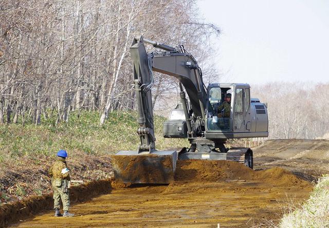 画像: 嵐山装輪車道地盤改良