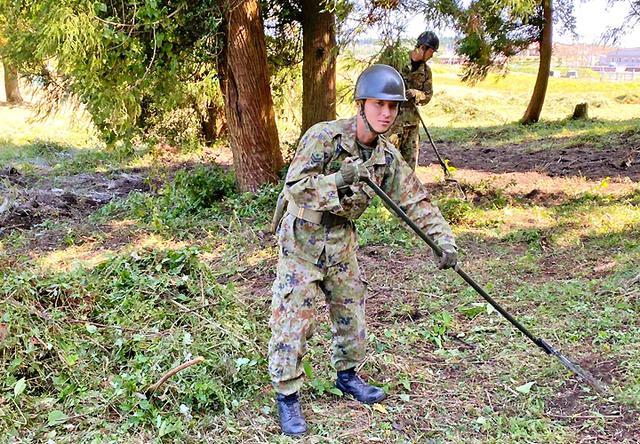 画像: 達成感にあふれた整備 西村 飛鳥 1陸士(第12普通科連隊 第4中隊)