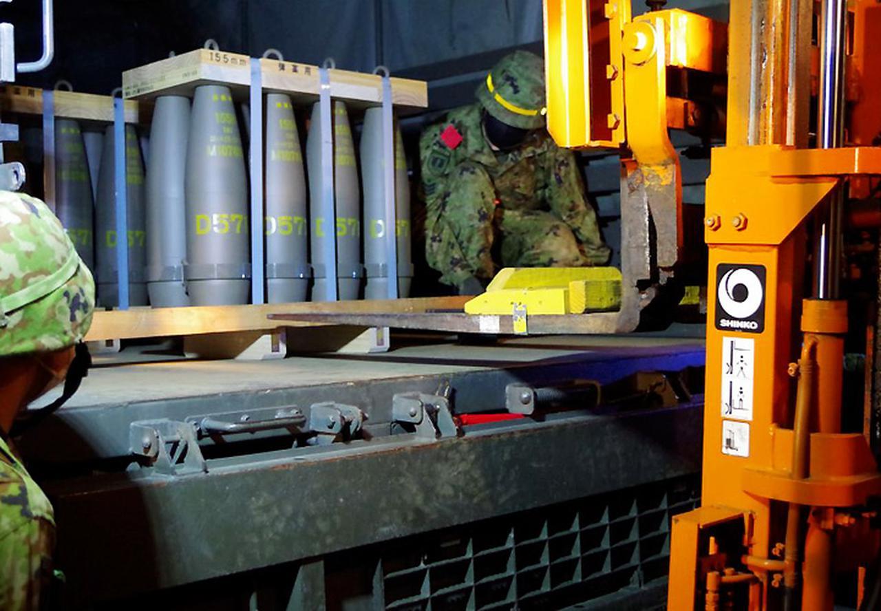 画像: 補給処と連携した弾薬積載