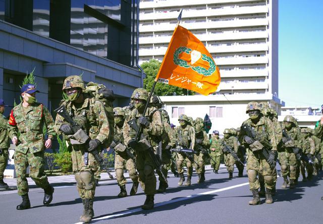 画像: 練馬駐屯に帰還するレンジャー学生