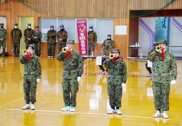 画像: 午後、上富良野町社会教育総合センターで行われたらっぱ競技会