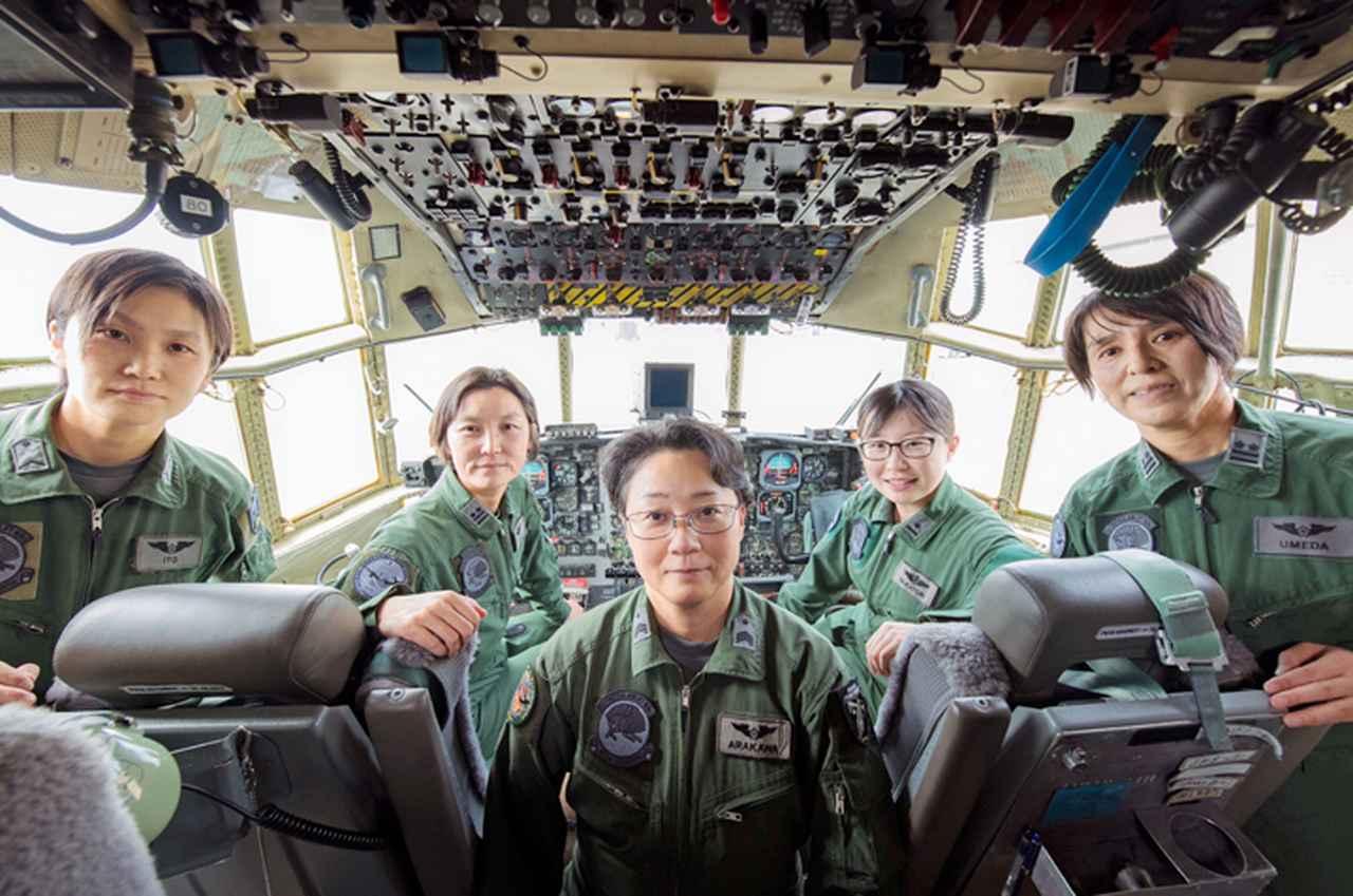画像1: 「すべてのクルーを女性で」初の空女フライト実現 空自小牧基地