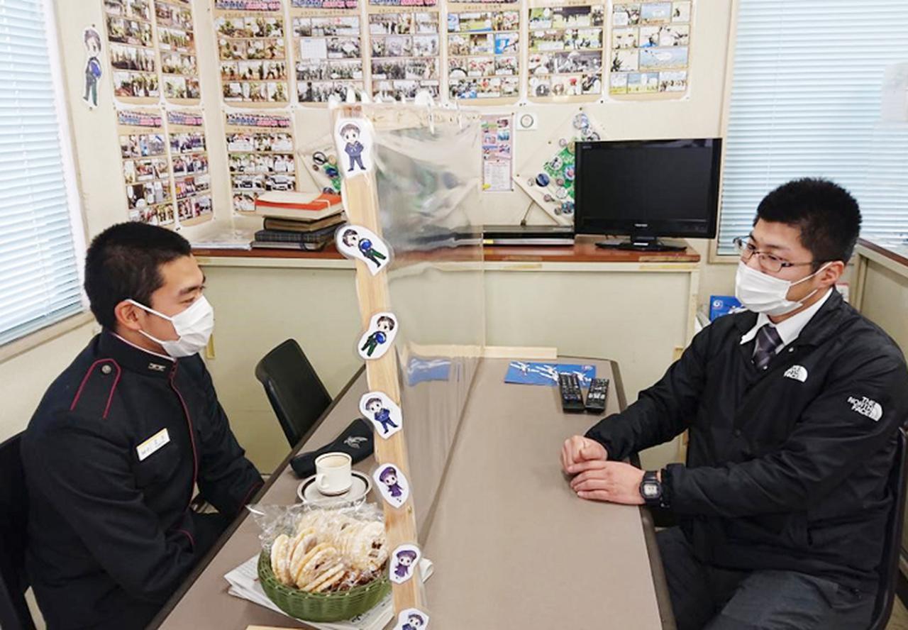 画像: 江口生徒と東條3曹