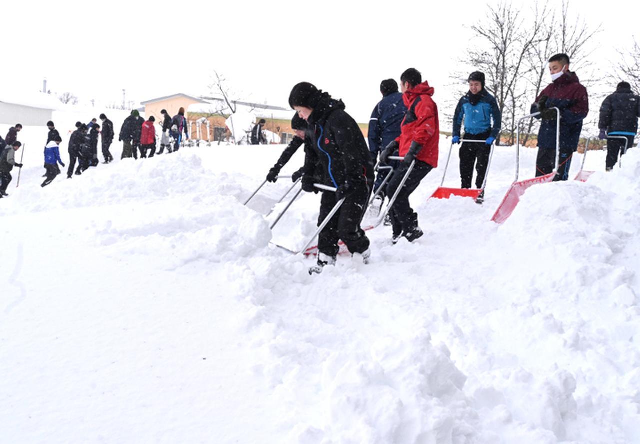 画像2: 深い雪を取り除く