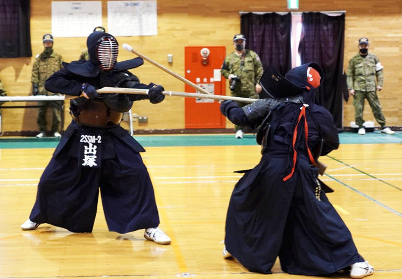 画像: 第2中隊 出塚士長 厳しい攻め