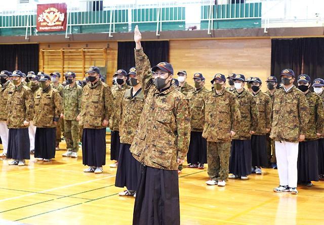 画像: 第3中隊 宮﨑士長の選手宣誓