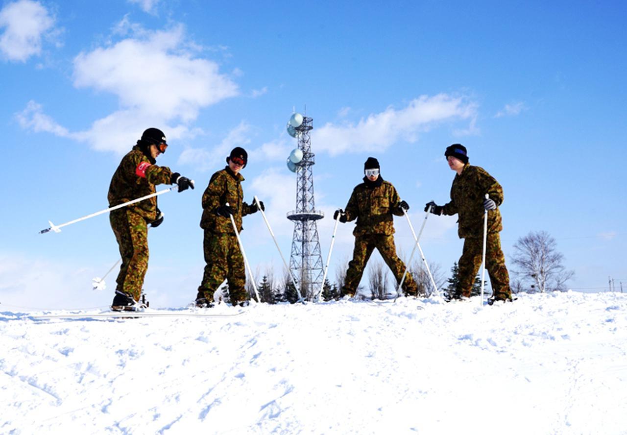 画像4: 官品スキー未経験者19人が積雪地集合訓練 岩見沢駐屯地