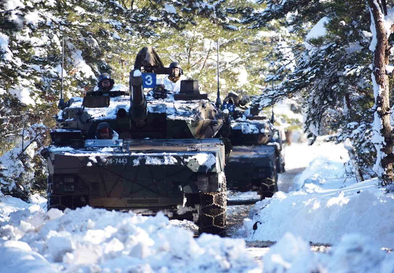 画像7: 雪舞う中、22即応機動連隊が第7次連隊野営訓練 多賀城駐屯地