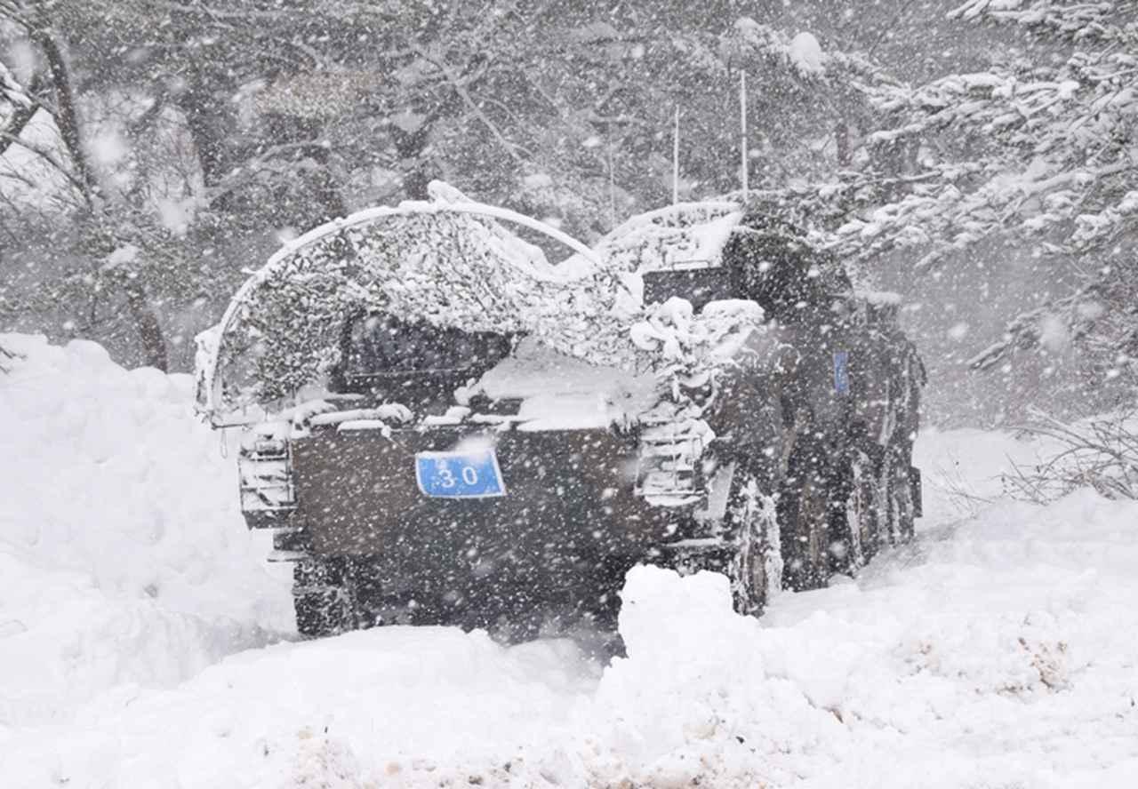 画像11: 雪舞う中、22即応機動連隊が第7次連隊野営訓練 多賀城駐屯地