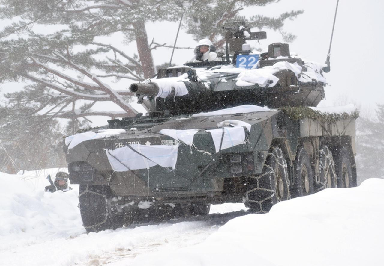 画像12: 雪舞う中、22即応機動連隊が第7次連隊野営訓練 多賀城駐屯地