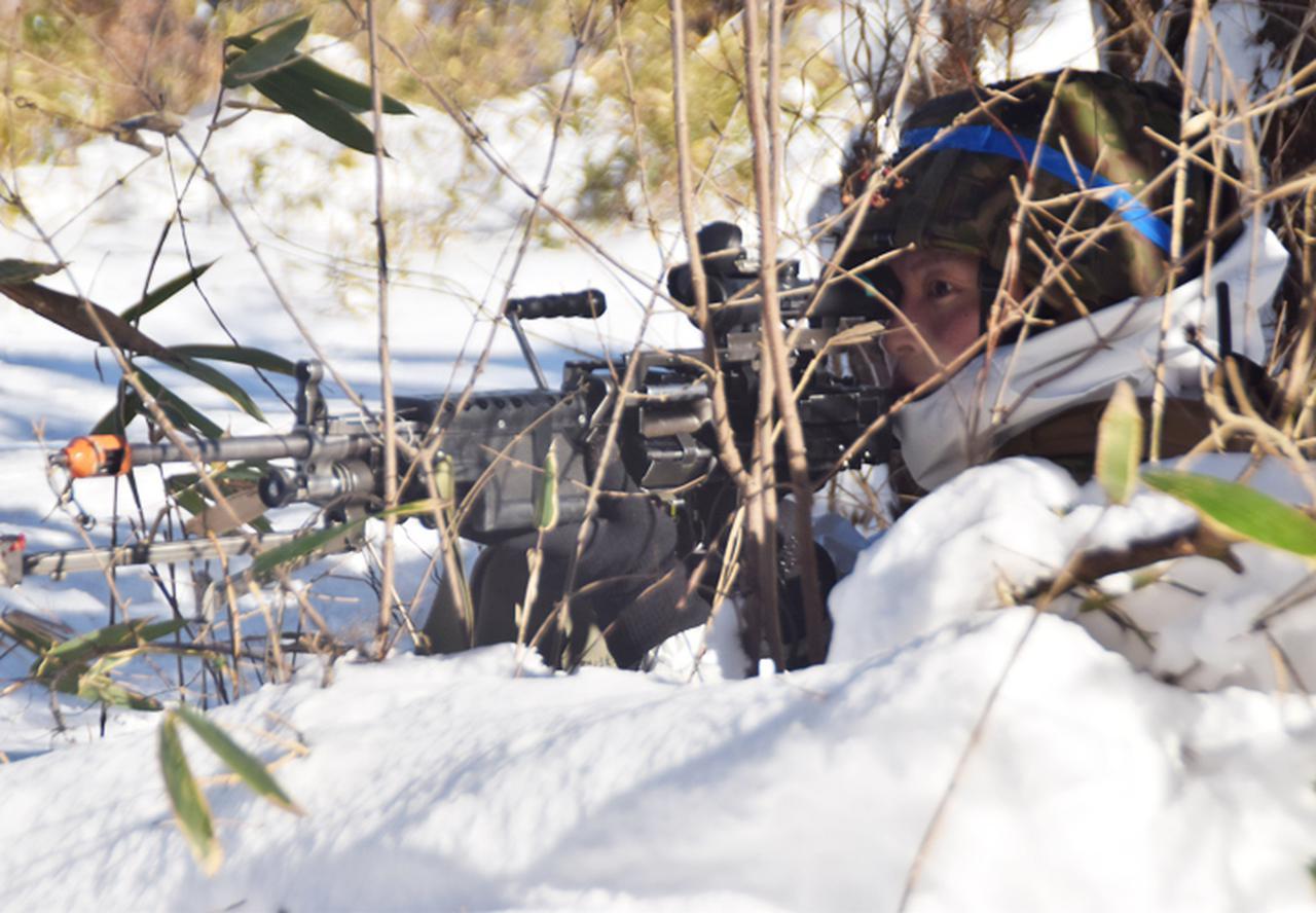 画像8: 雪舞う中、22即応機動連隊が第7次連隊野営訓練 多賀城駐屯地