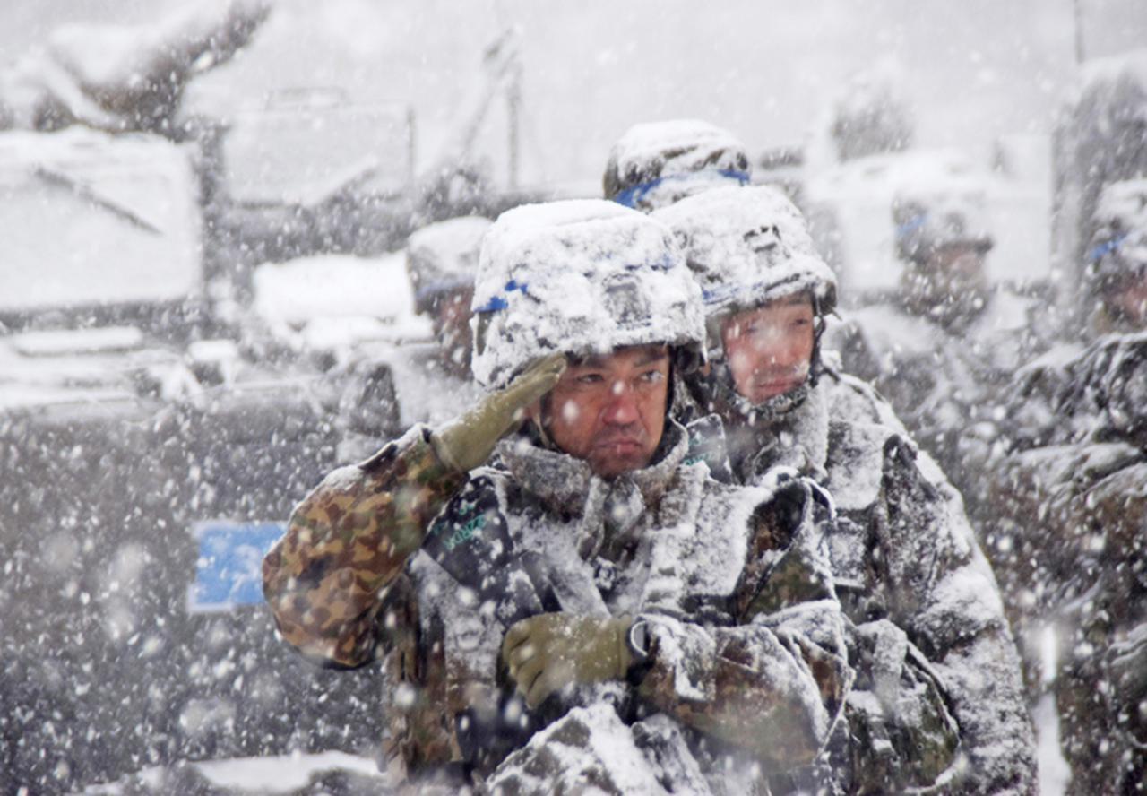 画像2: 雪舞う中、22即応機動連隊が第7次連隊野営訓練 多賀城駐屯地