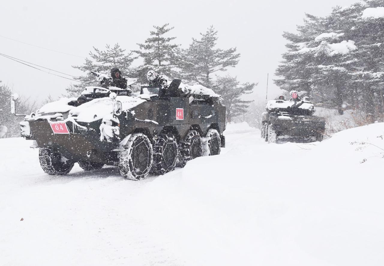 画像6: 雪舞う中、22即応機動連隊が第7次連隊野営訓練 多賀城駐屯地