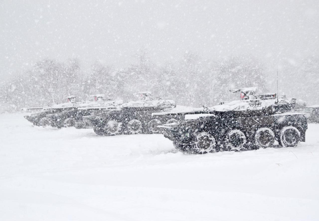 画像3: 雪舞う中、22即応機動連隊が第7次連隊野営訓練 多賀城駐屯地